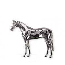 Alfiler caballo plateado Zaldi