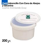 Jaboncillo Zaldi con cera de abeja y glicerina 200 gr