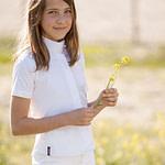 Camisa de concurso Lexhis Anael niña manga corta